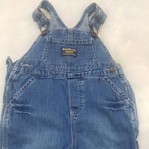 Oshkosh baby boy overall denim  jeans 12 months